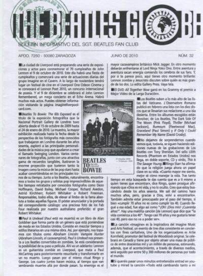 THE BEATLES GLOBE #32