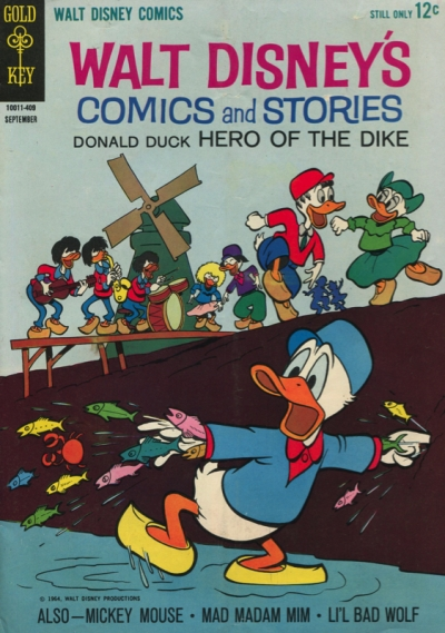 WALT DISNEY COMICS&STORIES #288 Donald Duck hero of the dike