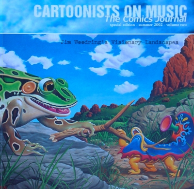 CARTOONISTS ON MUSIC-THE COMICS JOURNAL Vol.2